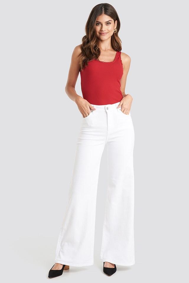 Wideleg Jeans White