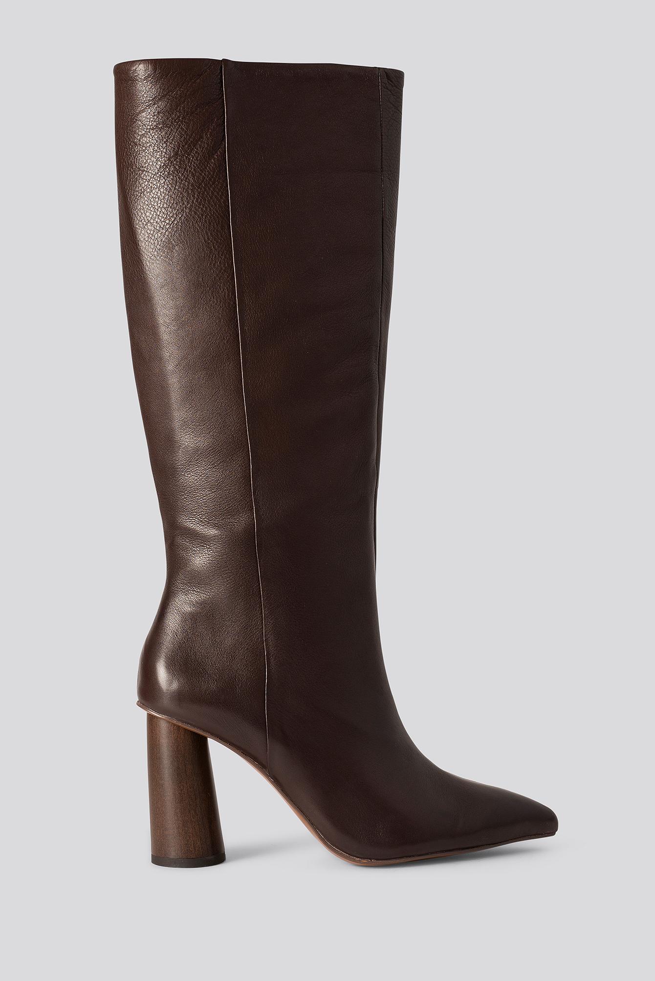 MANGO Wood Boots - Brown
