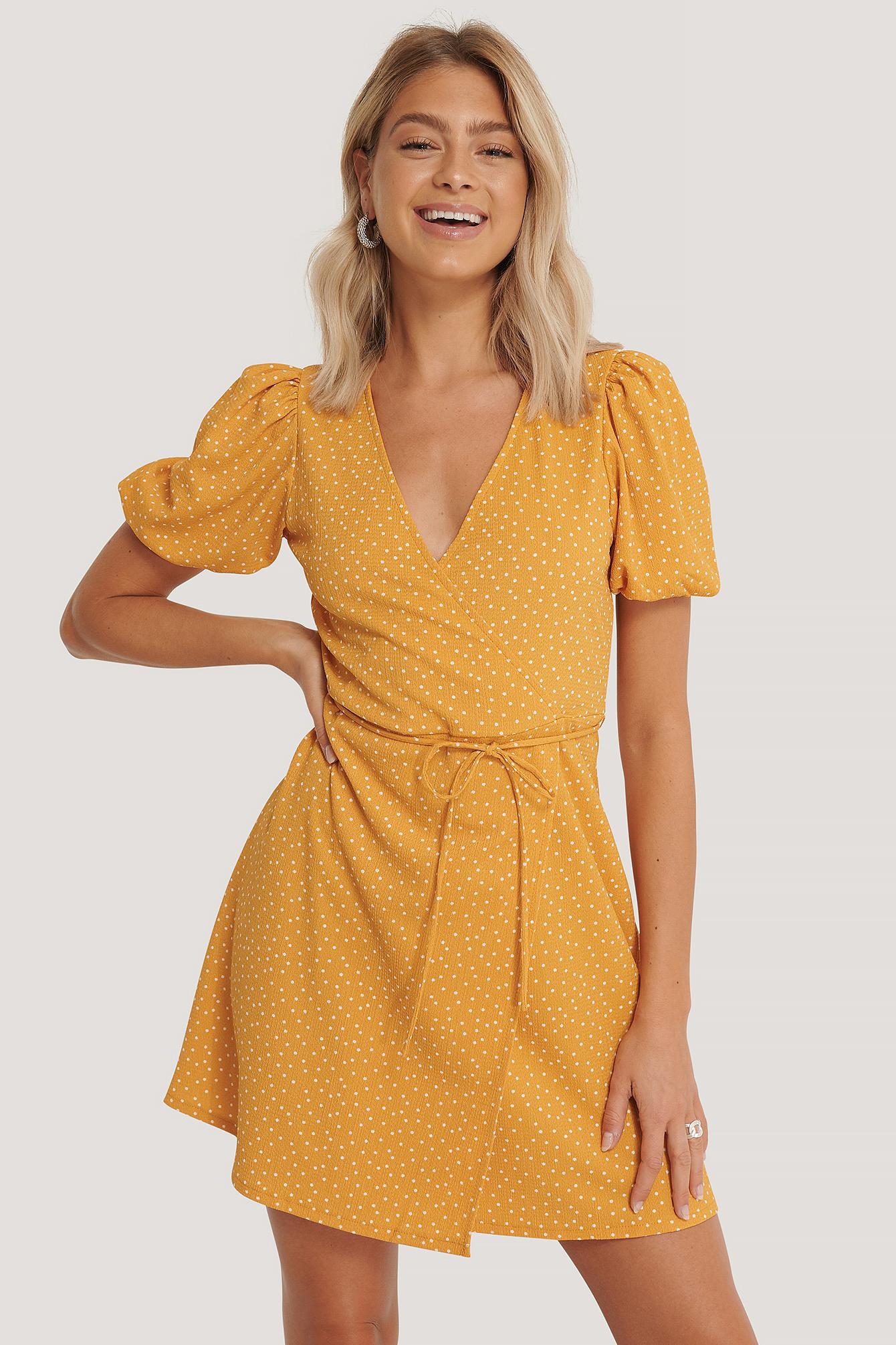 mango -  Wickelkleid - Yellow
