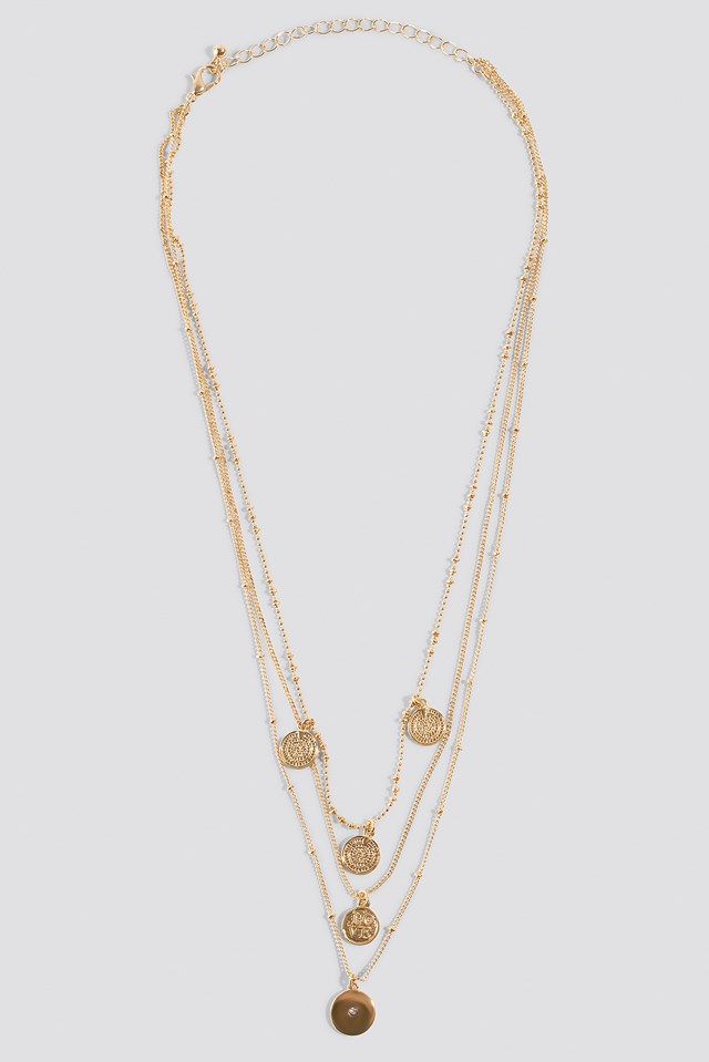 Zebra Necklace Gold