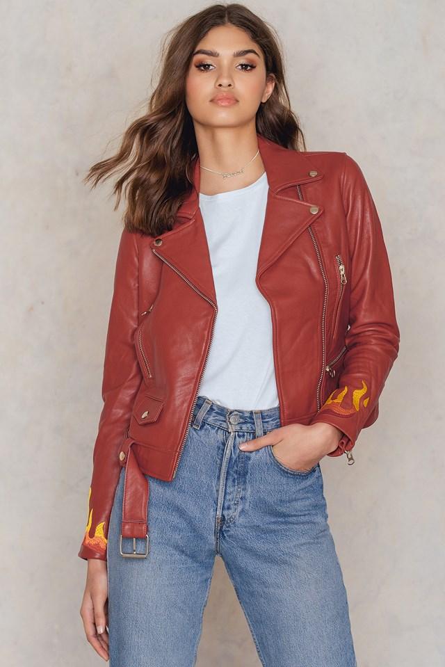 Leather Moto Jacket NA-KD.COM
