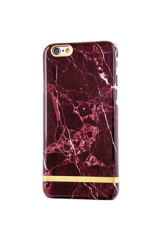 Red Marble Glossy iPhone 6 Red