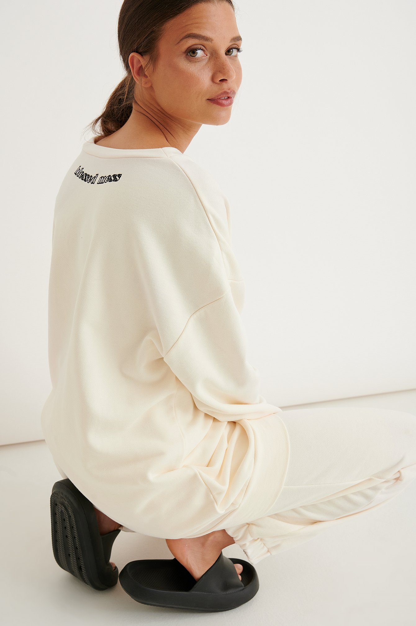 marije zuurveld x na-kd -  V-neck Sweater - Offwhite