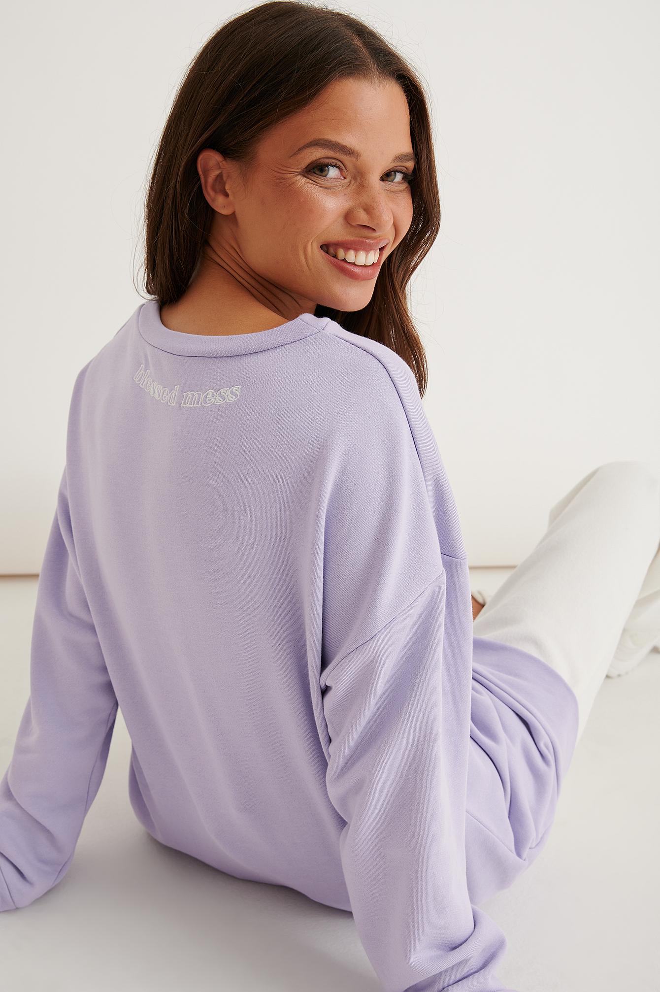 marije zuurveld x na-kd -  V-neck Sweater - Purple