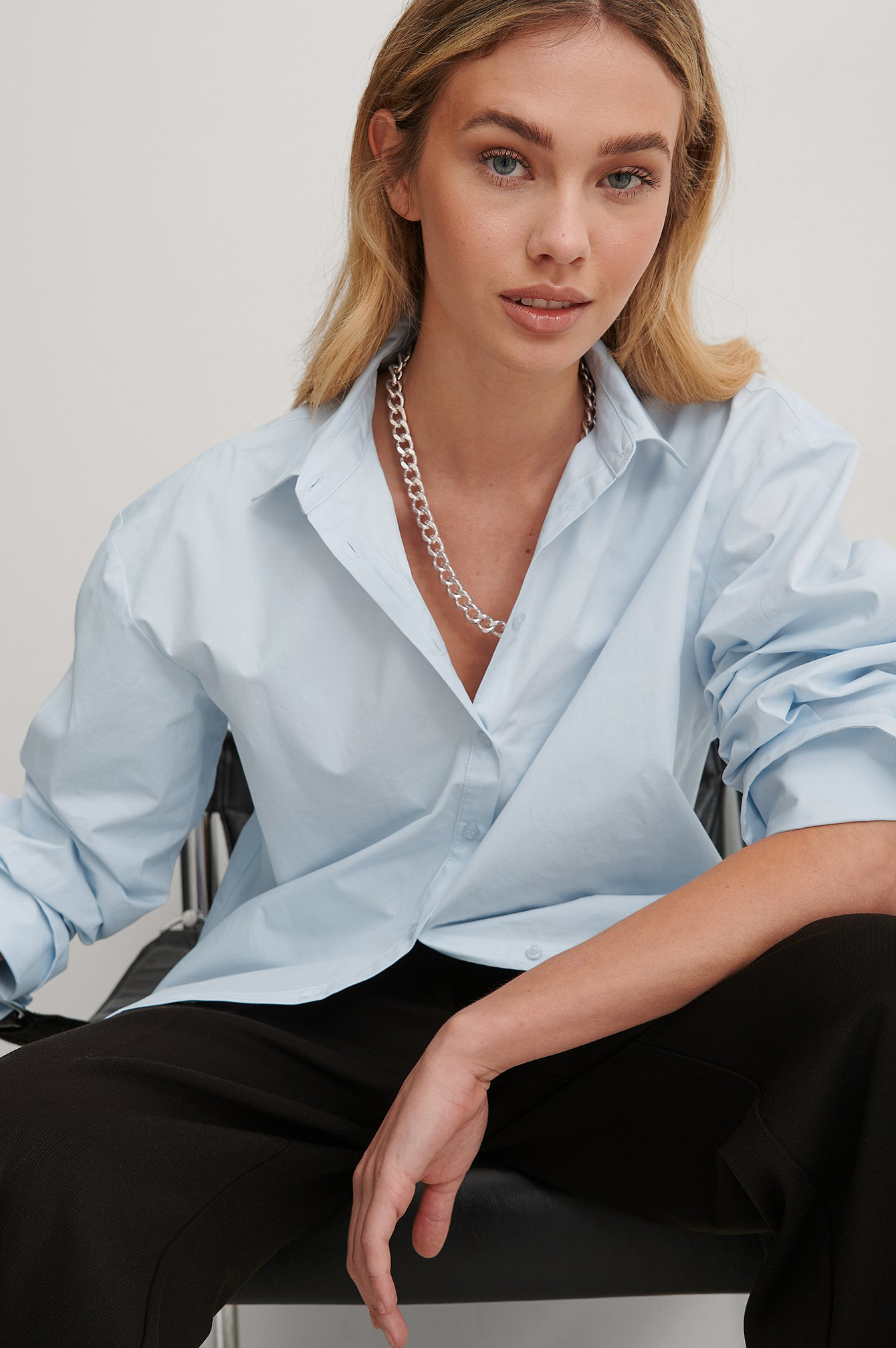 Light Blue Boxy Shirt