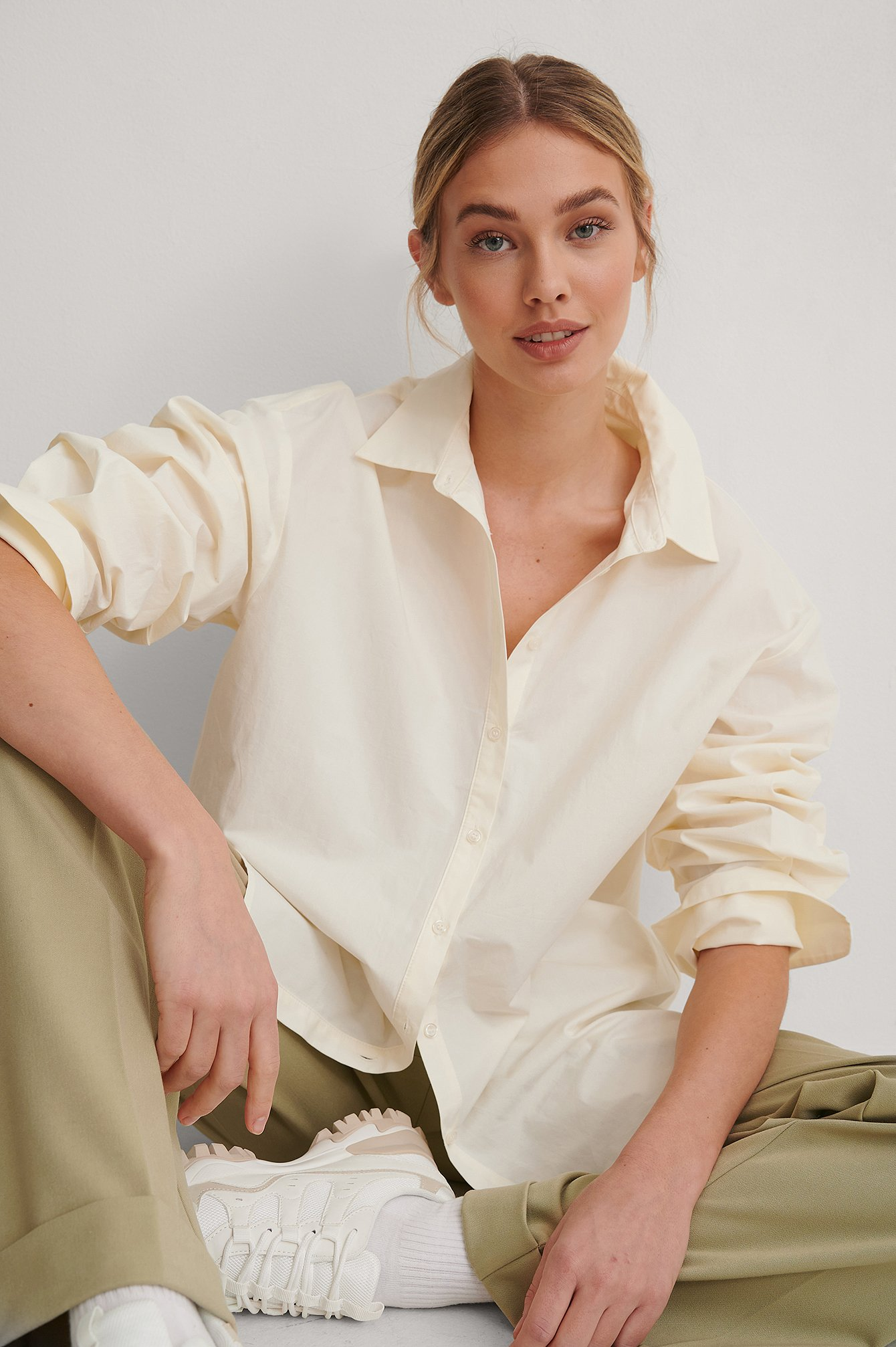 Cream Boxy Shirt