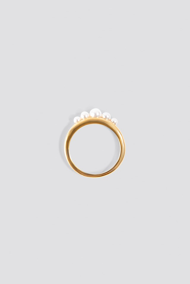 Pearled Ring Gold