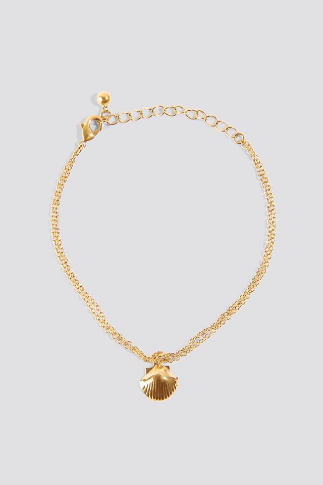 Single Shell Bracelet Gold