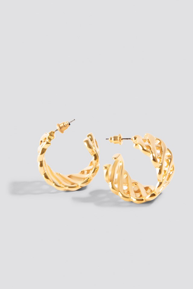 Structured Hoop Gold