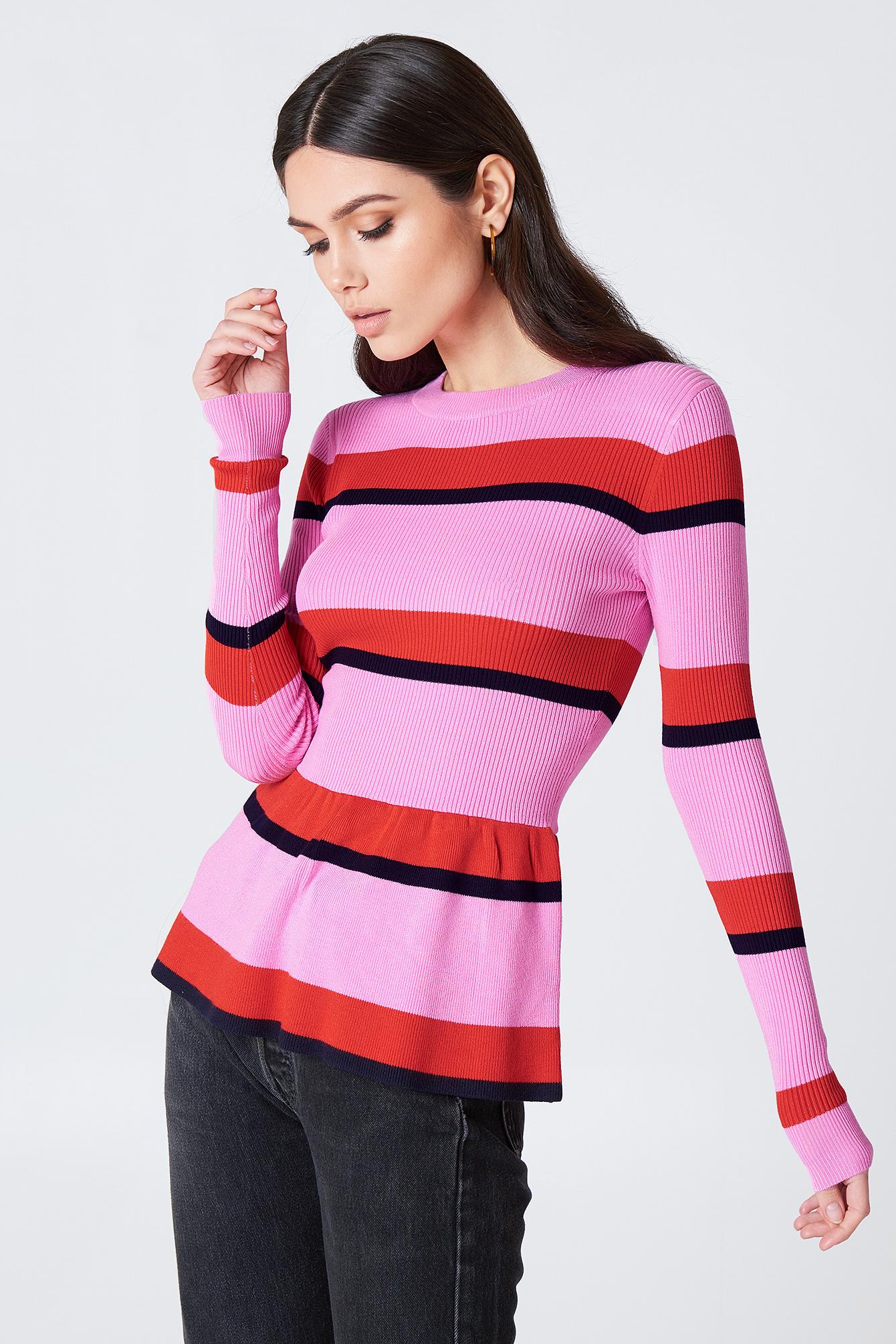 MBYM Mindy Knit - Pink, Multicolor in Pink,Multicolor