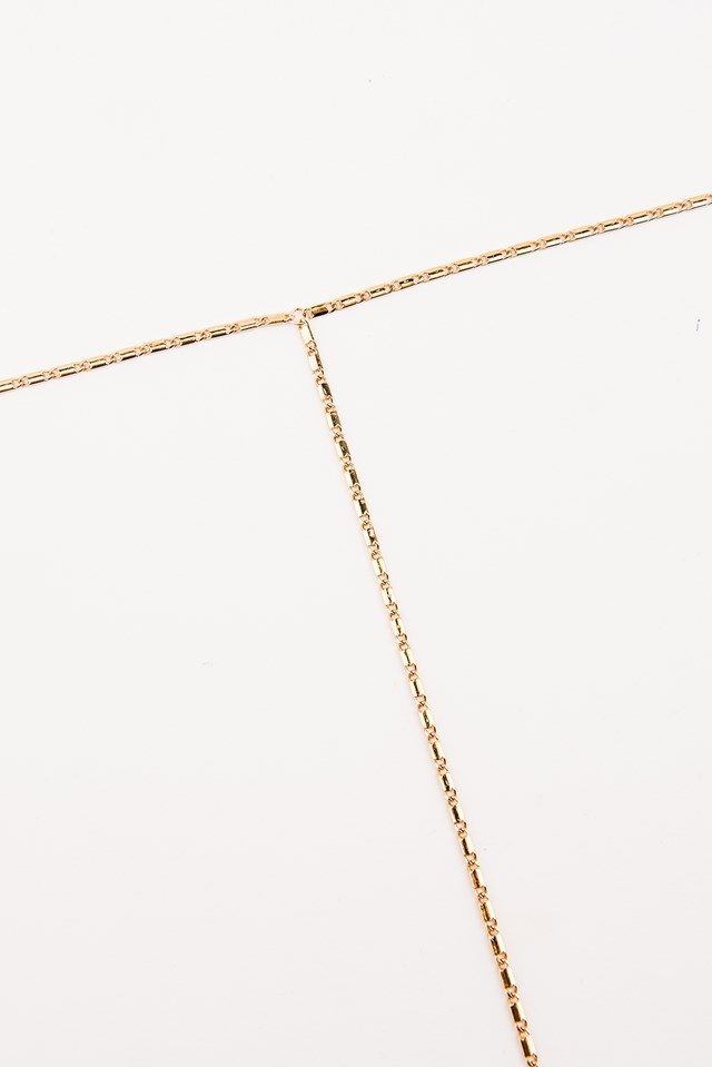 The Oxford Lariat Necklace Gold