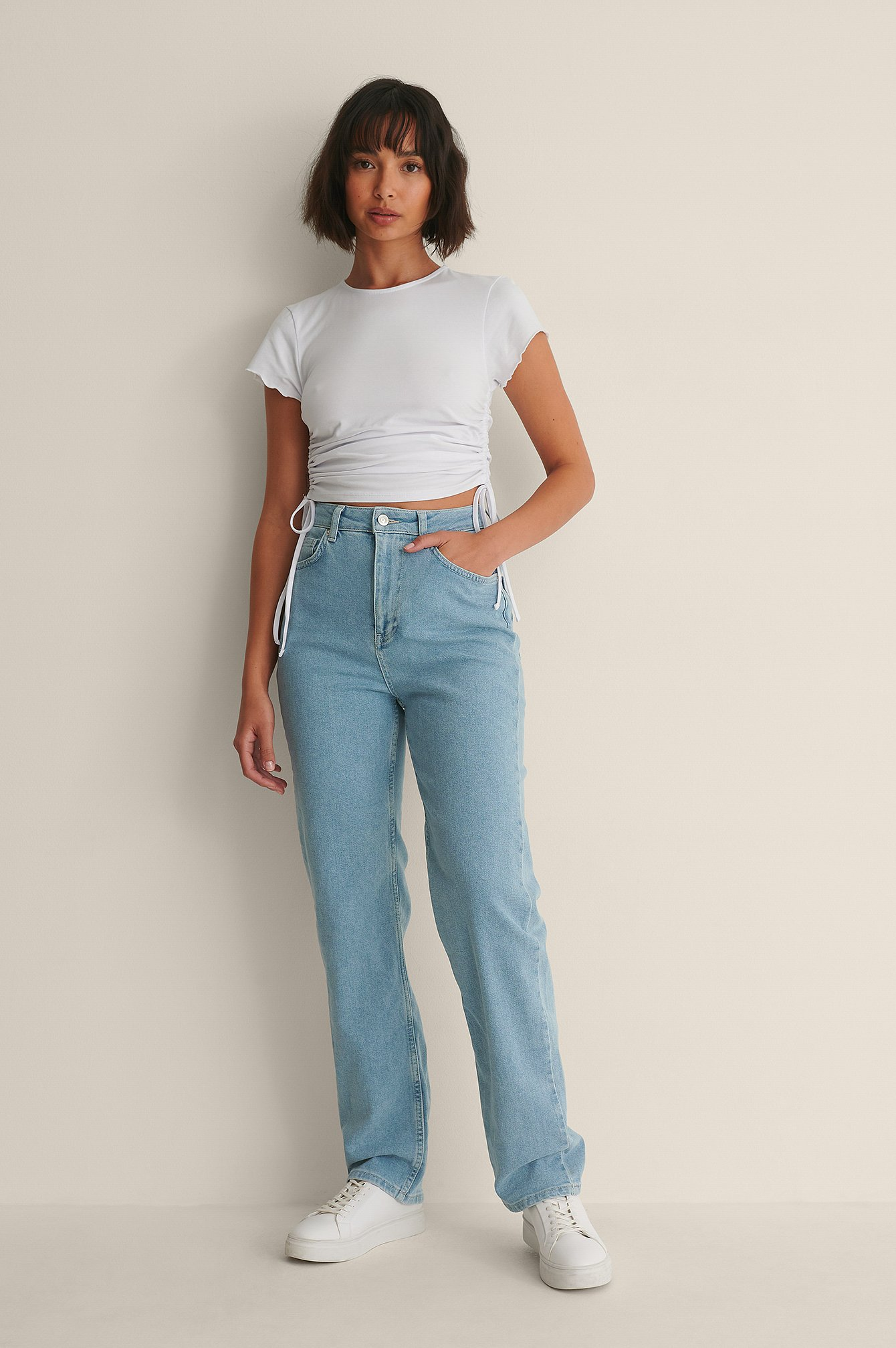 Light Wash Light Wash Straight Jeans