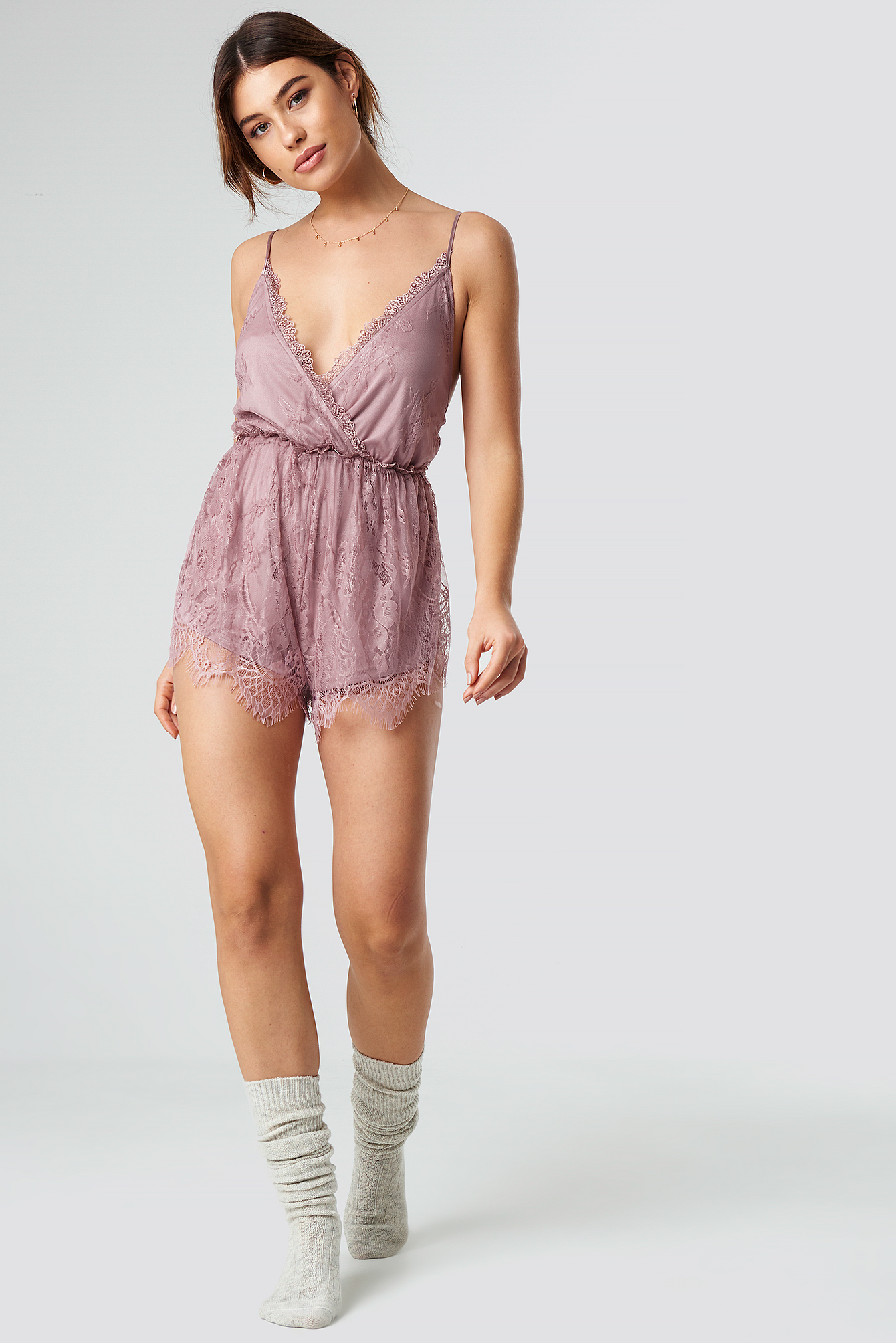 Romantic Lace Playsuit NA-KD.COM