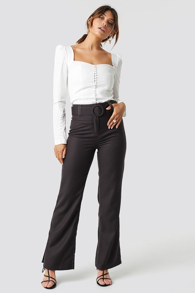 Highwaist Flared Pants Brown