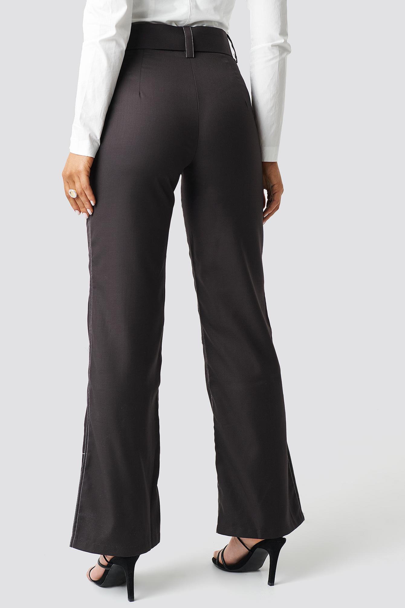 Highwaist Flared Pants NA-KD.COM