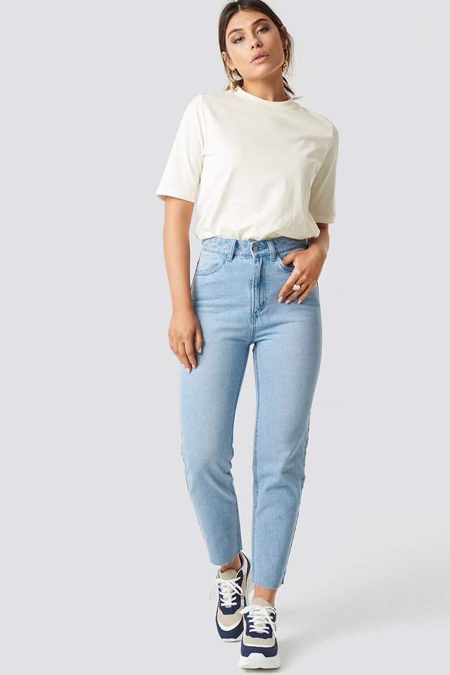 Mom Fit Jeans Light Blue