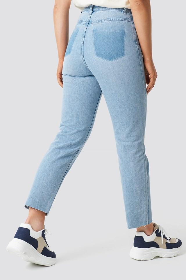 Mom Fit Jeans Light Blue