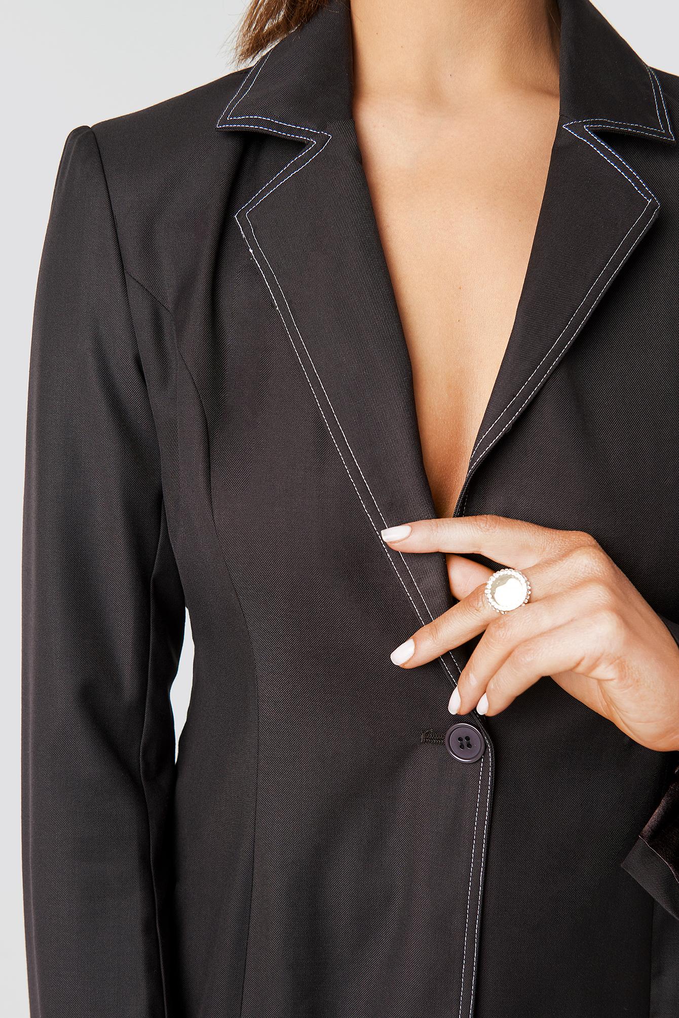 One Button Blazer NA-KD.COM