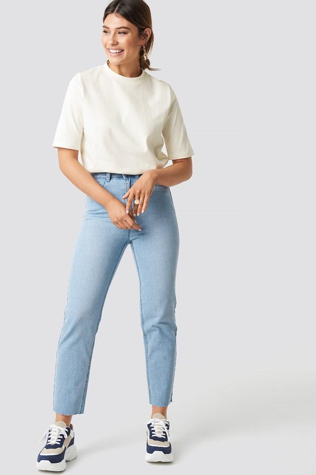 Plain Roundneck T-shirt NA-KD.COM