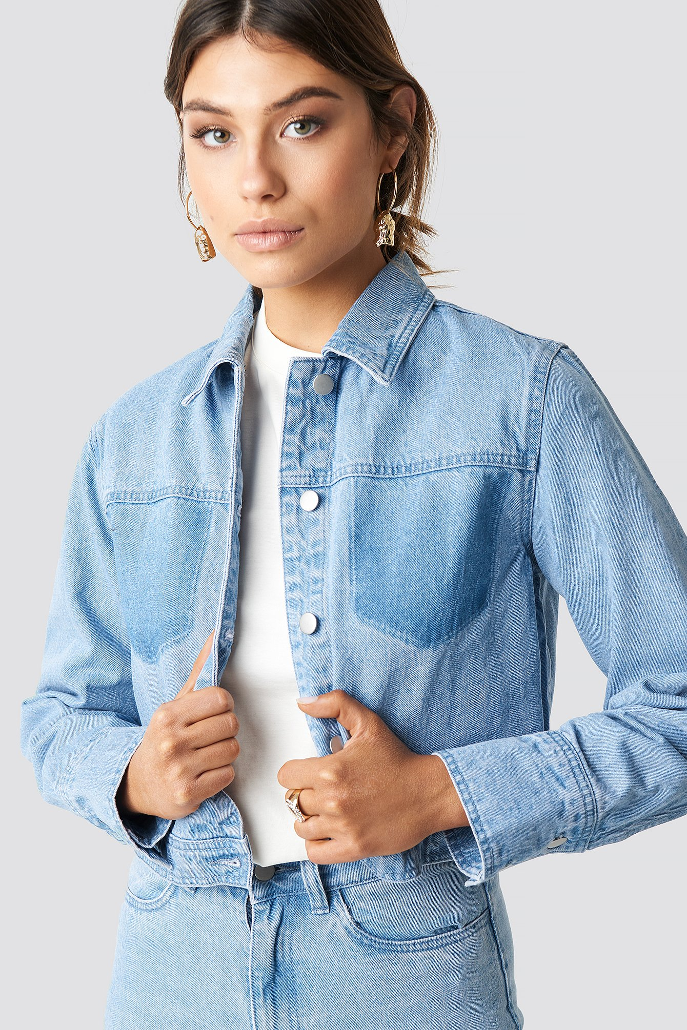 Washed Denim Jacket NA-KD.COM