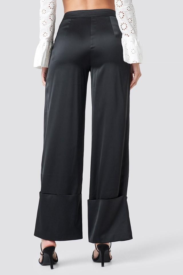 Cuffed Pants Black