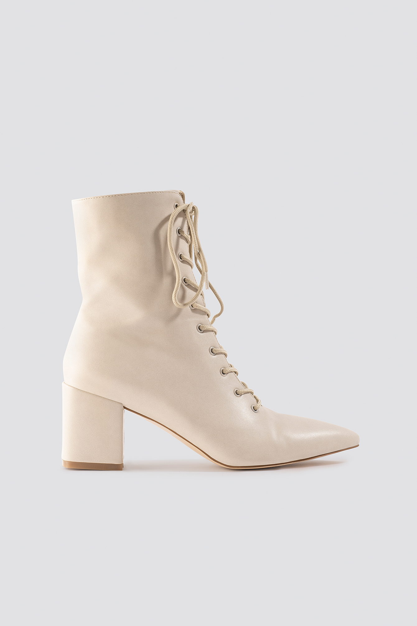 Lined Up Boots Beige by 72679 213782