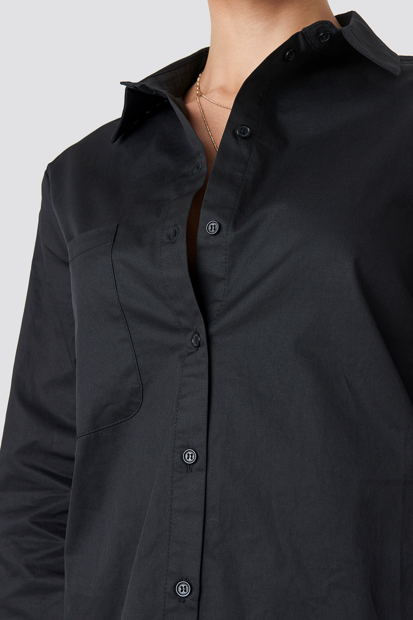 Oversized Cotton Shirt NA-KD.COM