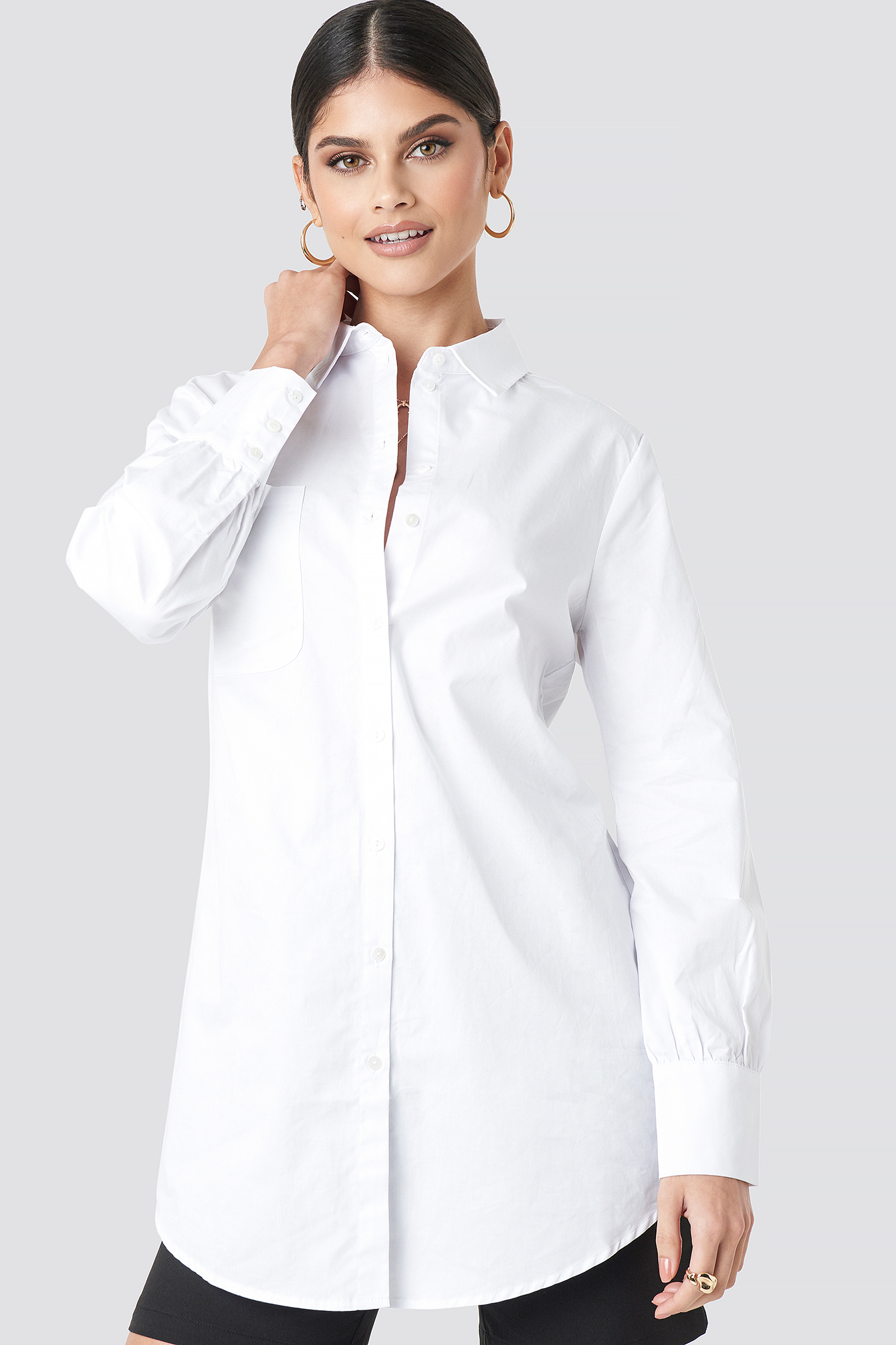Oversized Cotton Shirt NA-KD.COM