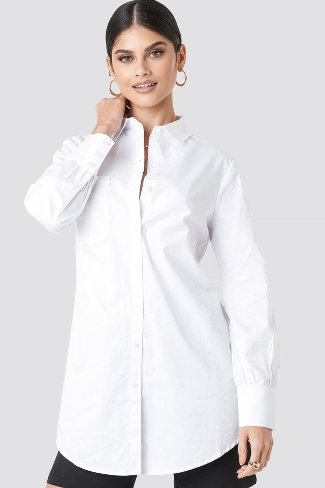 Oversized Cotton Shirt White