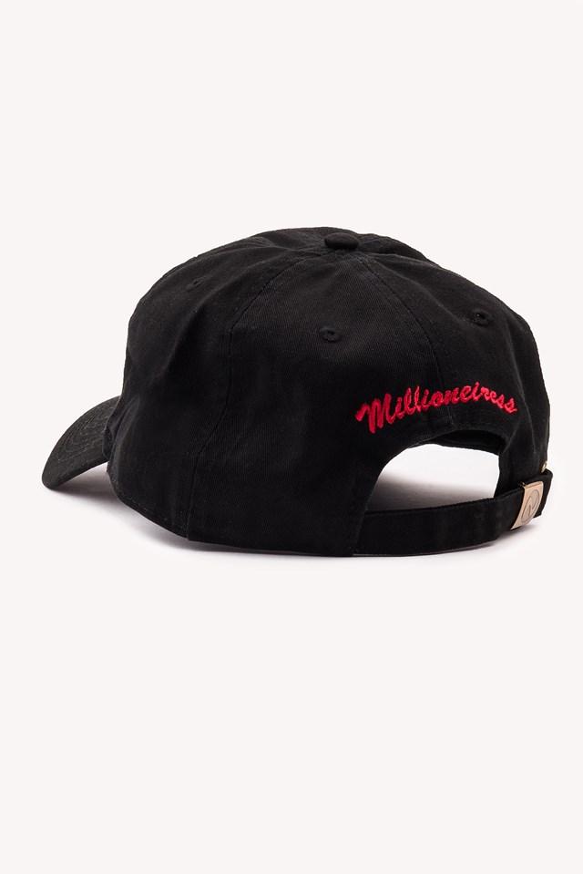 Femme Fatale Hat Black/Red