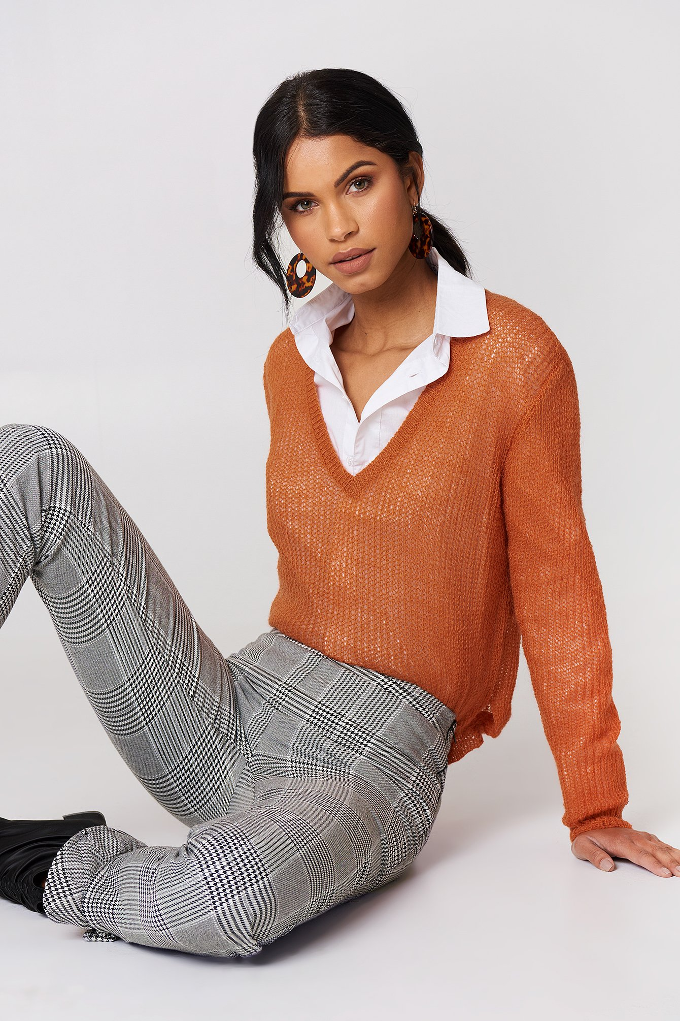 MOVES NILLY JUMPER - ORANGE, COPPER
