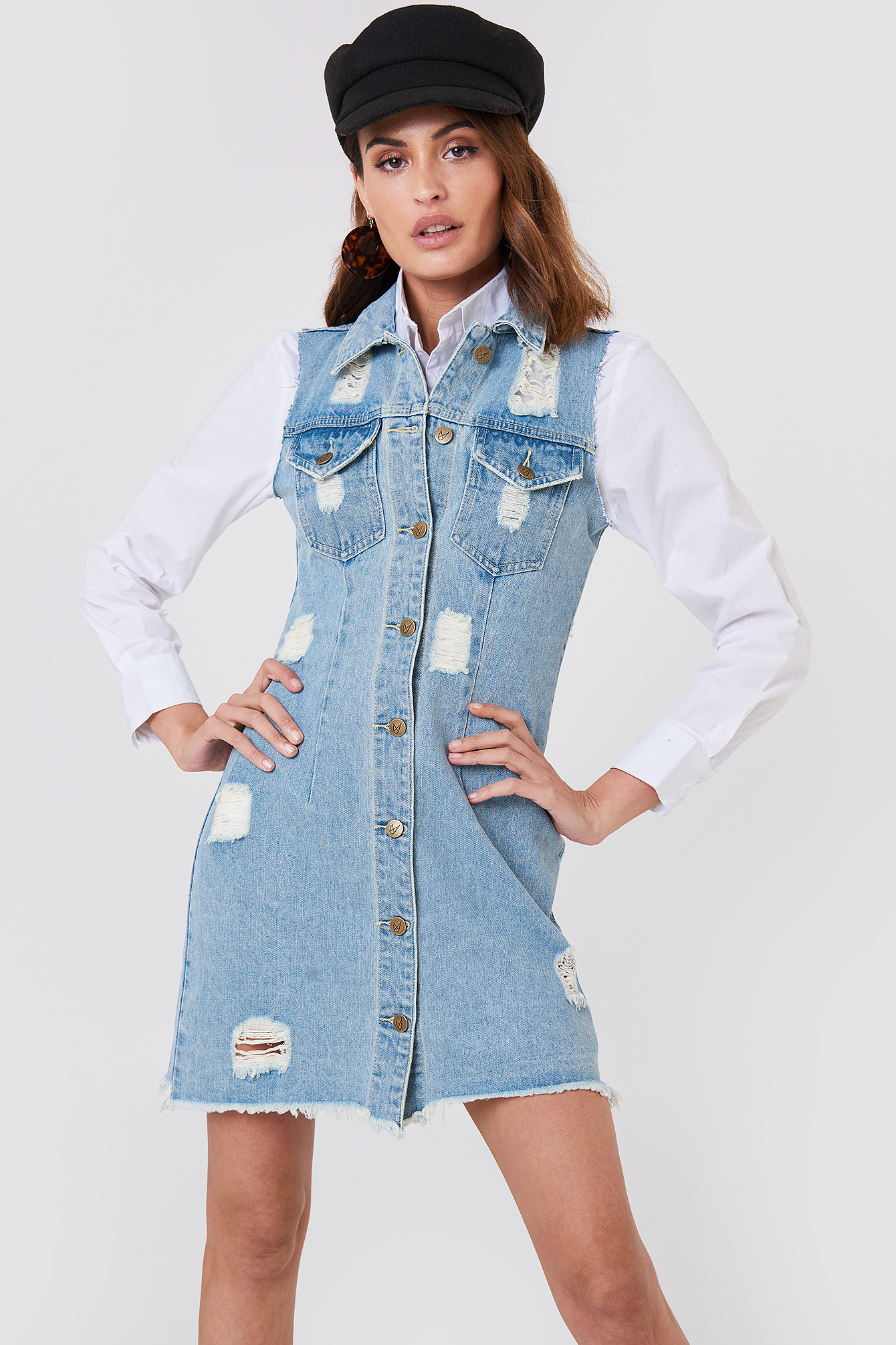 Dust Storm Denim Dress NA-KD.COM