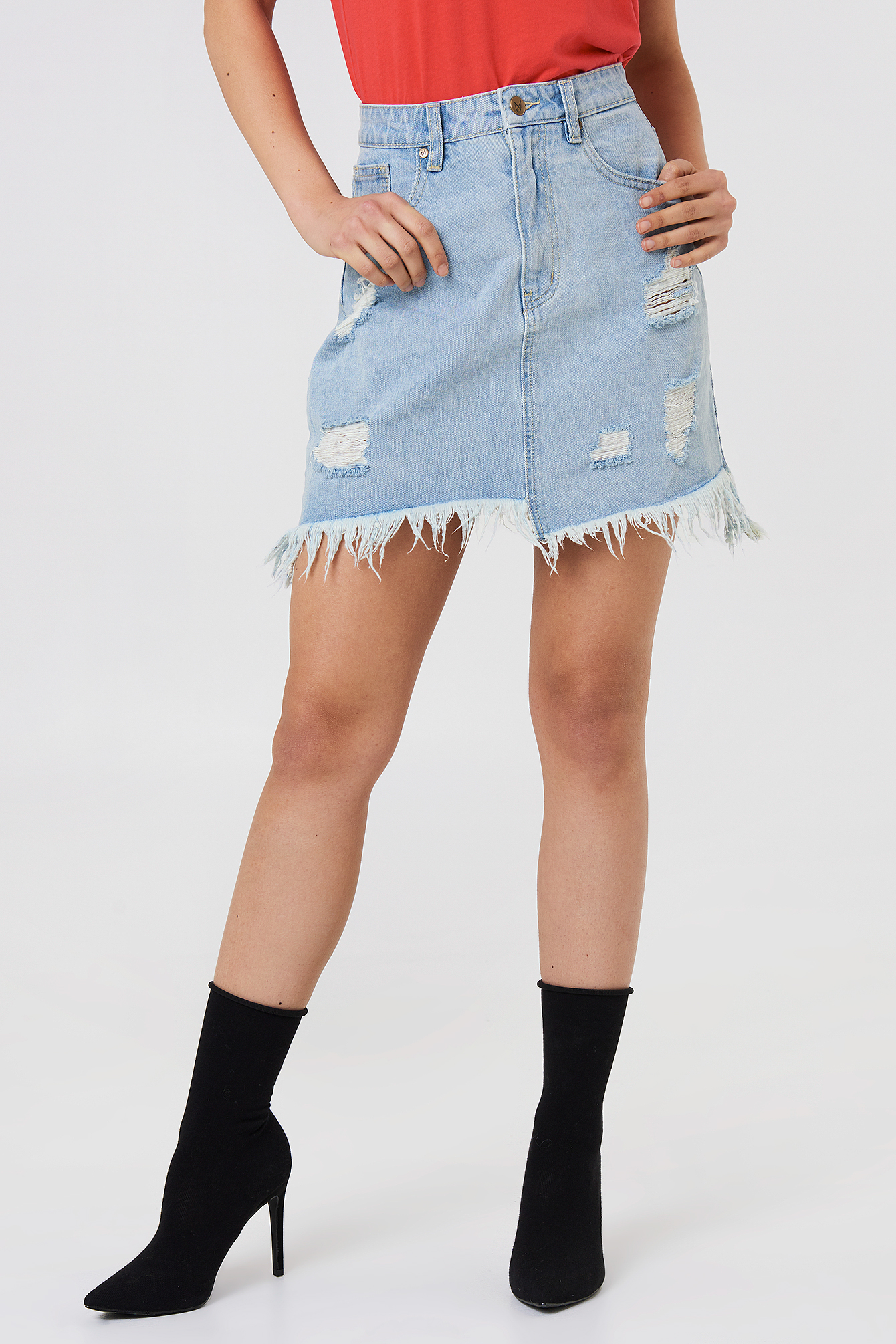 Dust Storm Denim Skirt NA-KD.COM