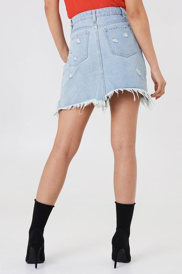 Dust Storm Denim Skirt Desert Wash