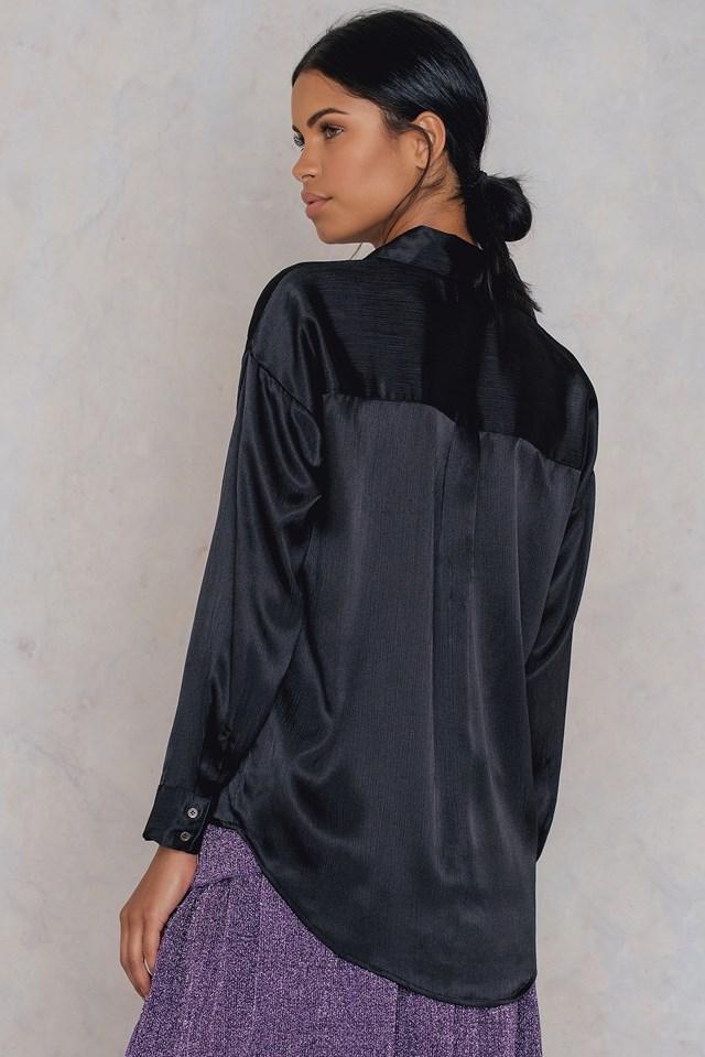 Piper Oversized Shirt Black