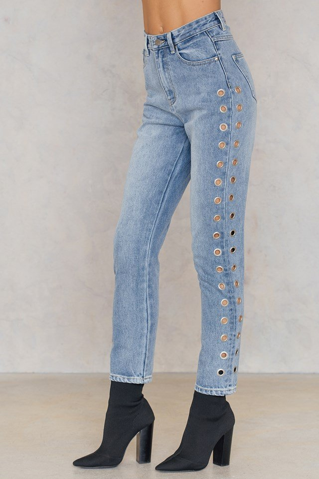 The Youth Eyelet Scando Jean Vintage Blue