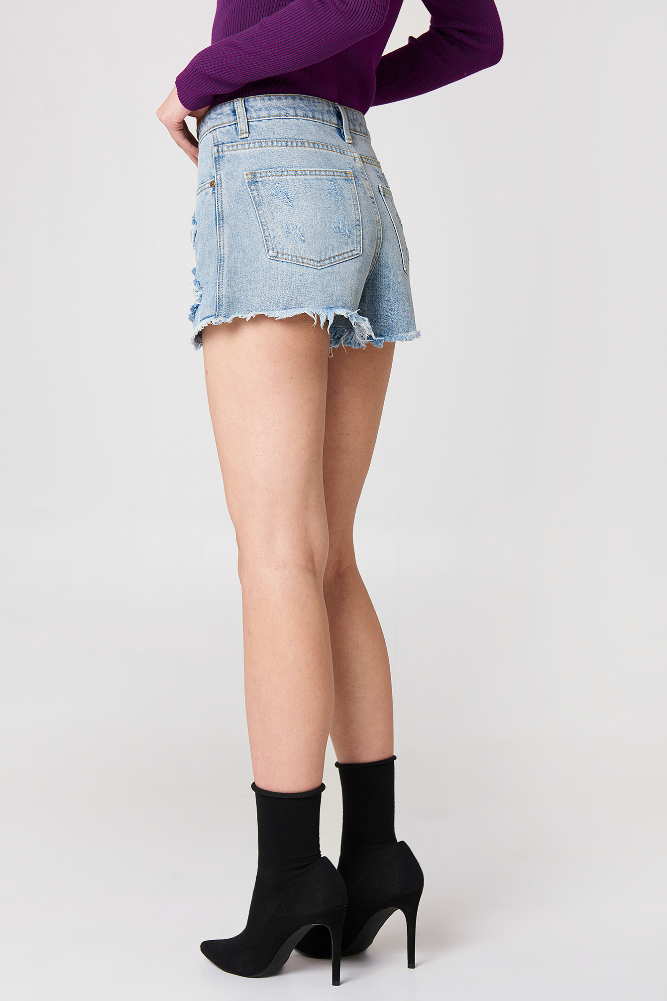 Trash Talk Denim Shorts NA-KD.COM