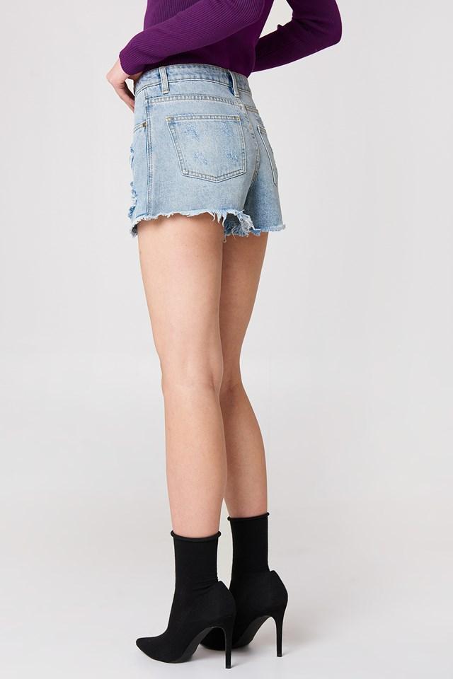 Trash Talk Denim Shorts Vintage Blue