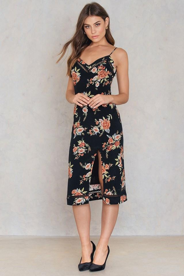 Wallflower Split Slip Dress Multi