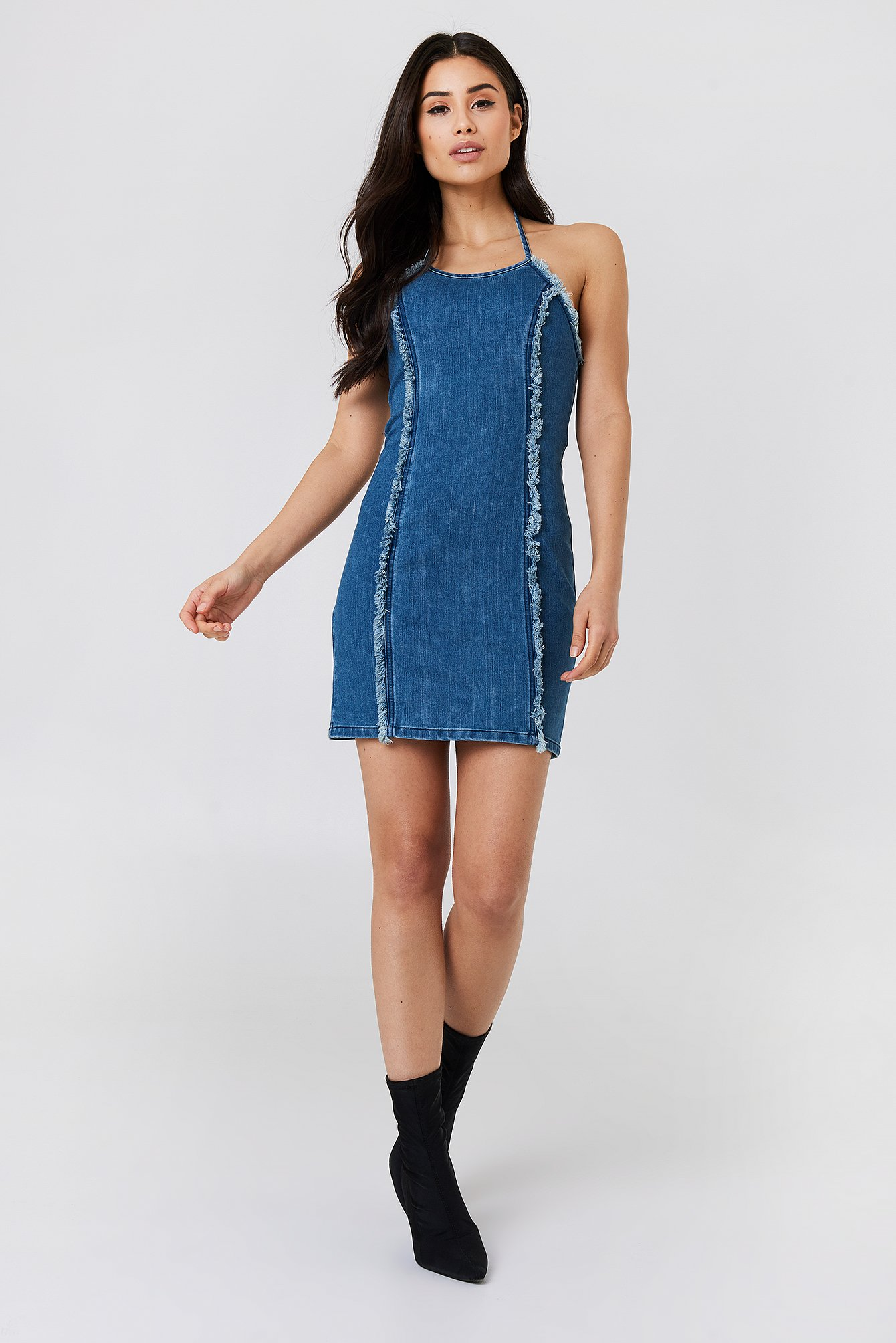 Wild Ones Denim Halter Dress NA-KD.COM