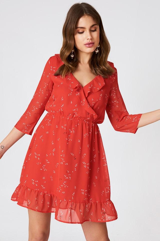 Barbel Dress Fiery Red