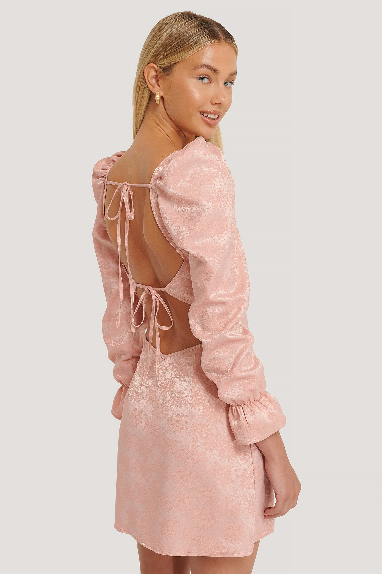 Misslisibell x NA-KD Jacquardklänning - Pink