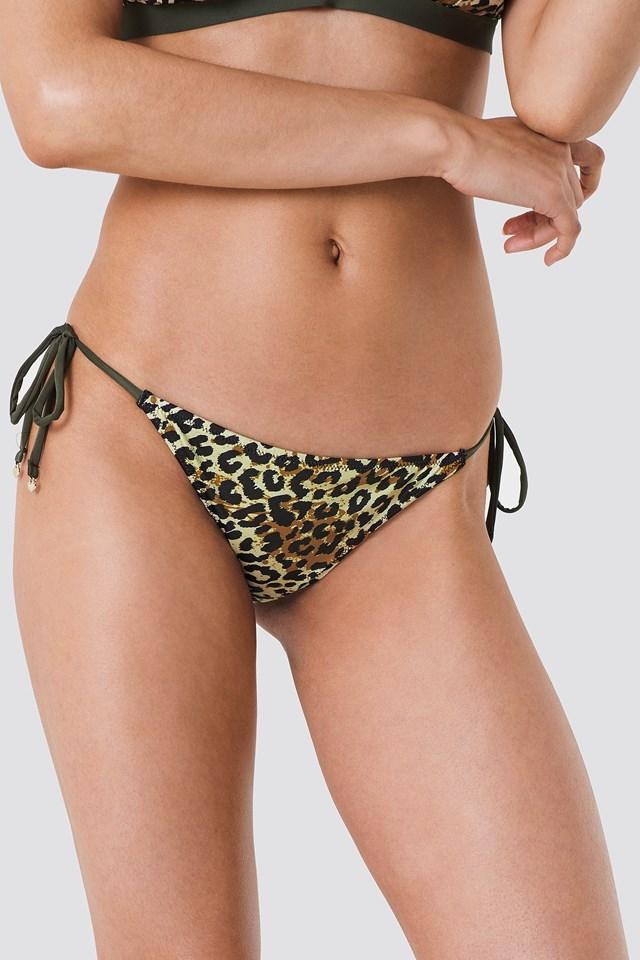Altea Tai Cord Bikini Bottom Animal Print
