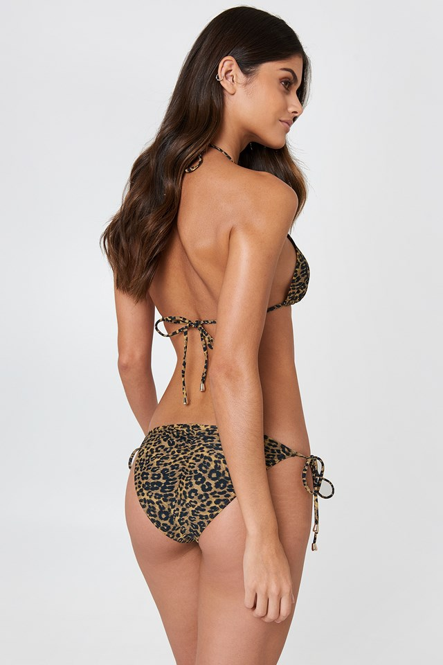 Angel Triangle Bikini Animal Print