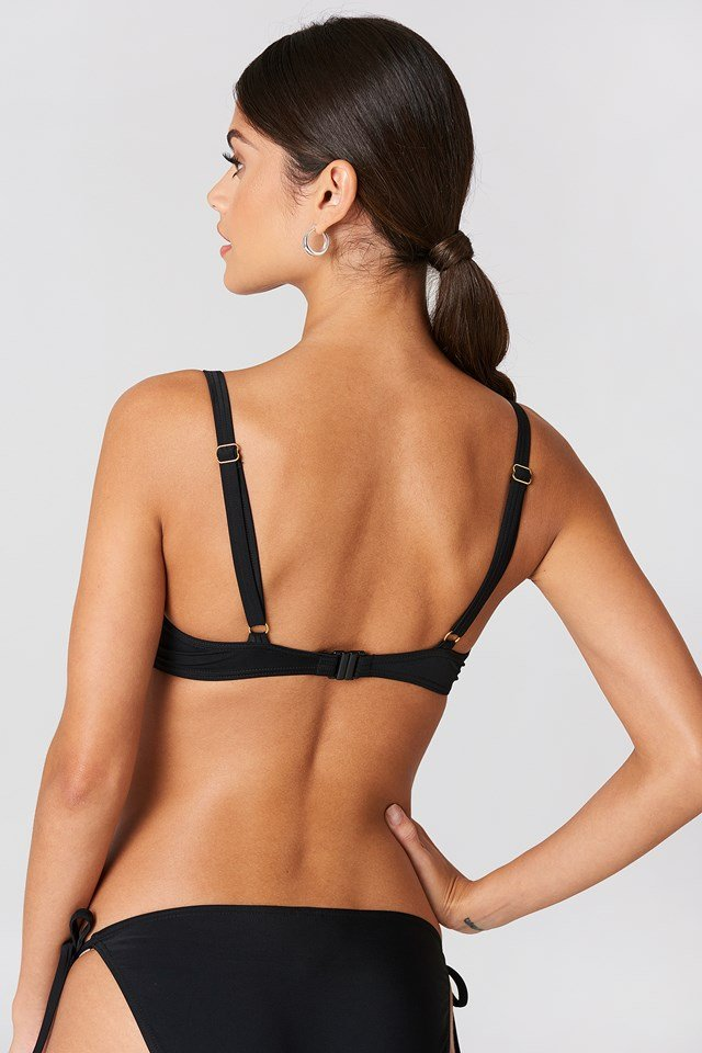 Bellis Push Up Bikini Top Black