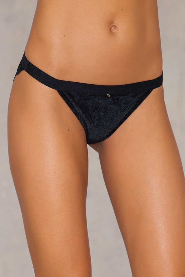 Tasia Italian Brief Black Velvet