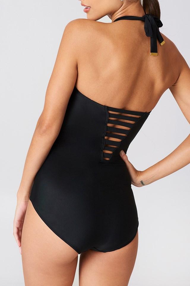 Viola Swimsuit Bandeau Black