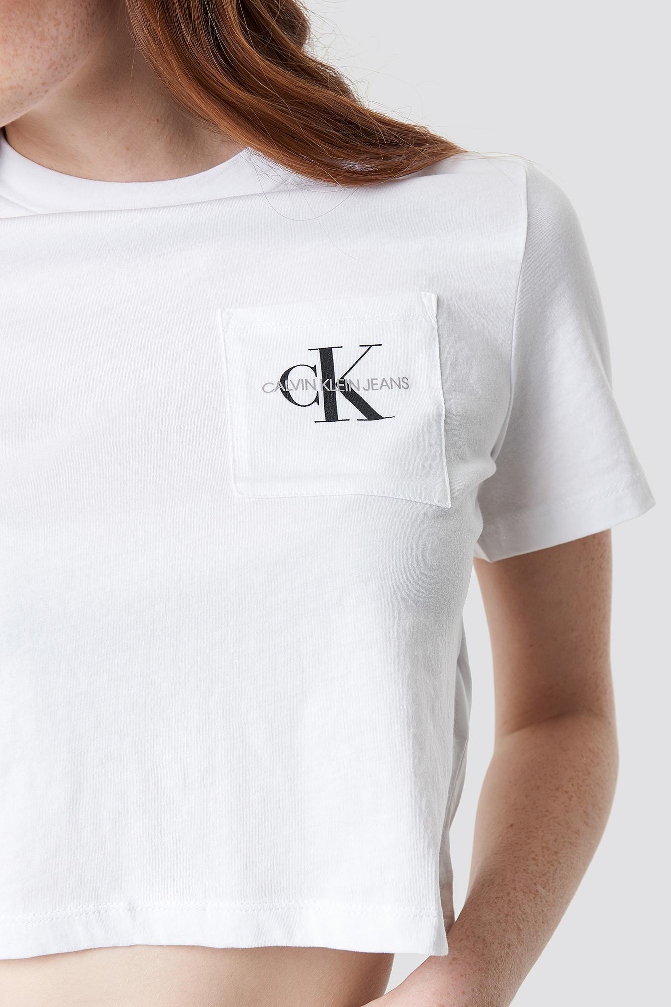 Monogram Crop Pocket Tee NA-KD.COM