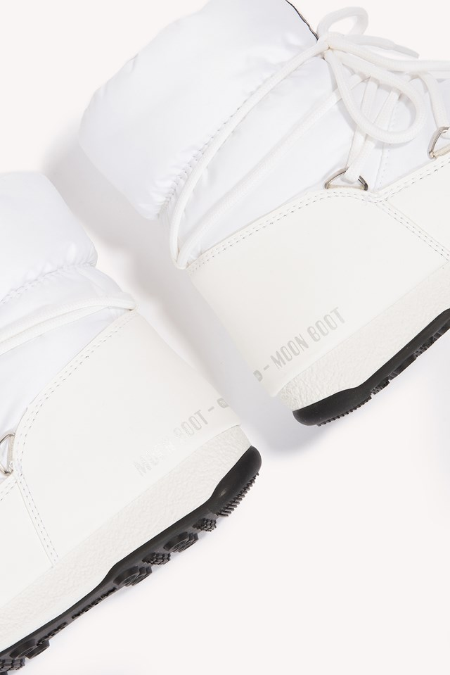 Moon Boot WE Low Bianco Argento