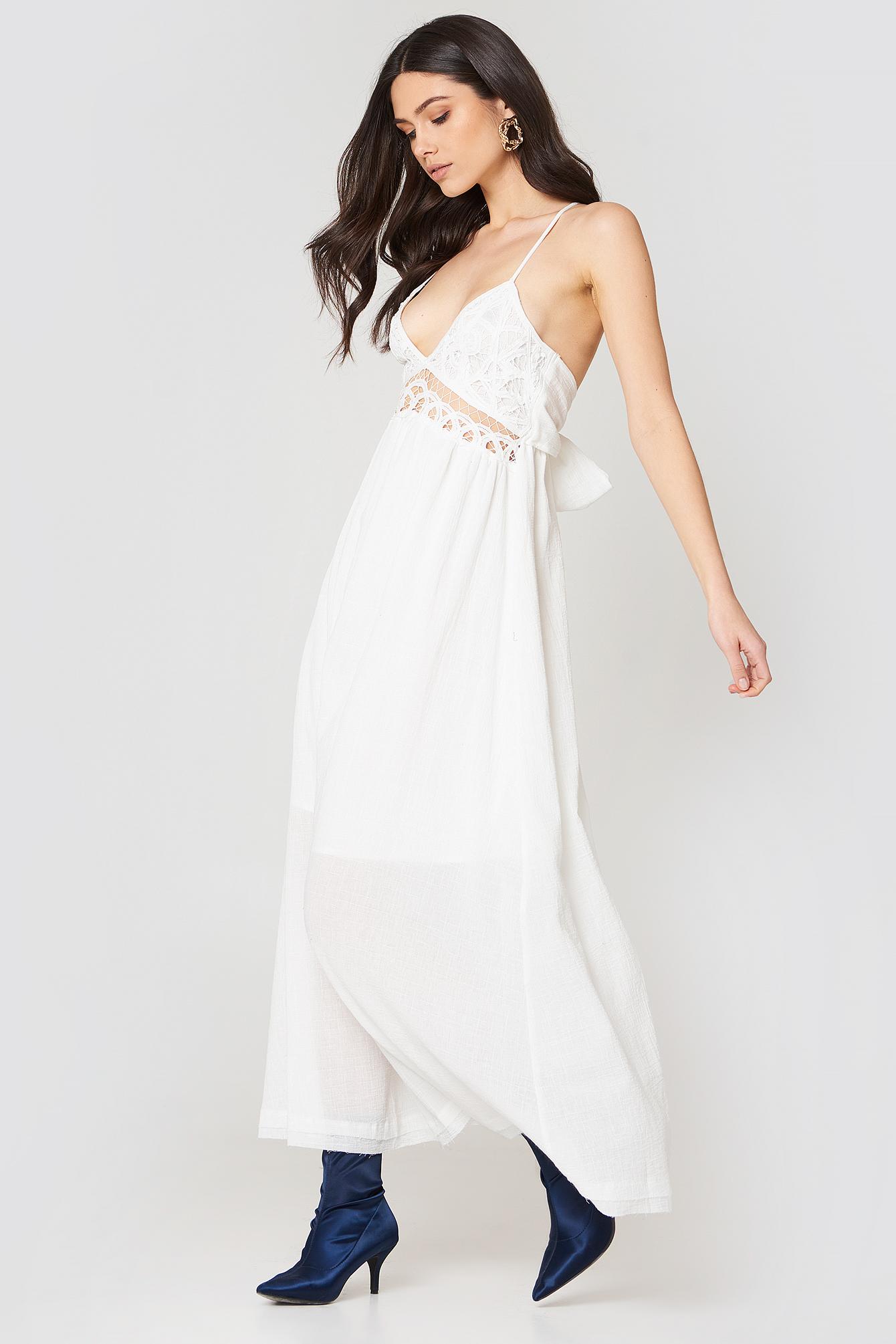 Sukienka maxi z koronką NA-KD.COM